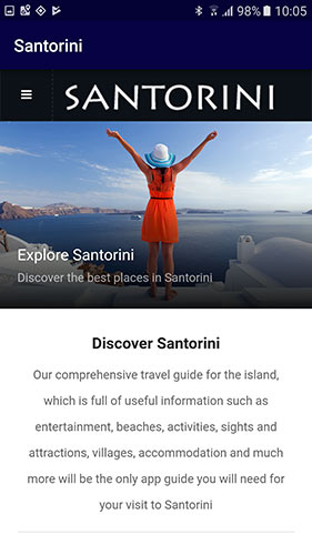 Santorini App for Android & iOS | New for 2019