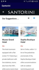 iOS and Android app for Santorini