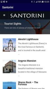 iOS app for Santorini
